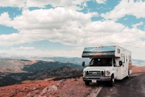 RV at the top of the mountain
