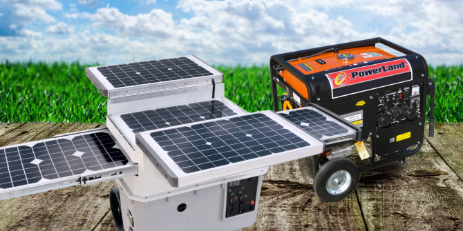 GENERATORS VS SOLAR PANELS