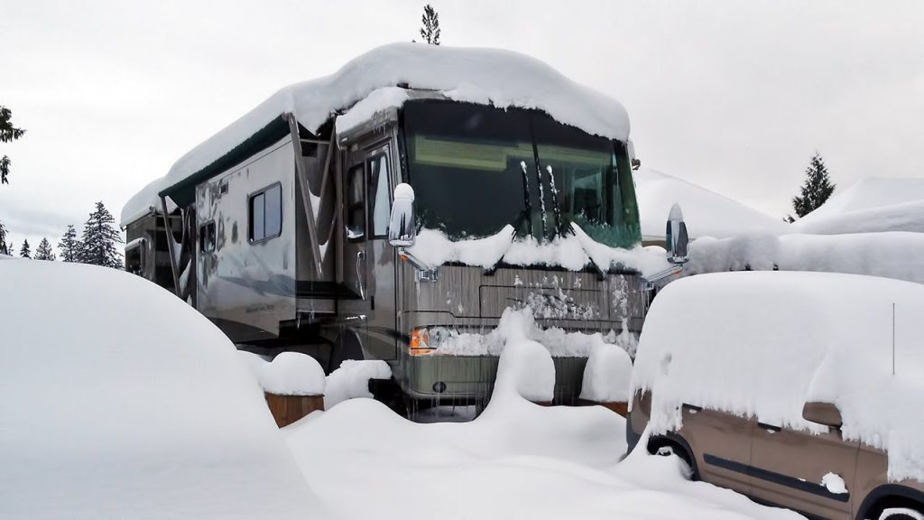 rv on snow