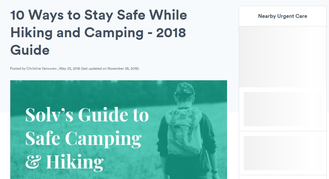 stay safe while hiking blog