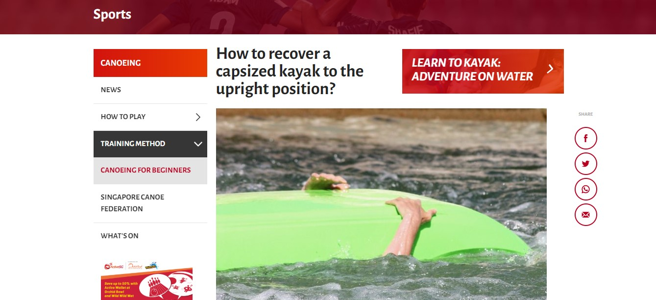 Recover a capsized kayak