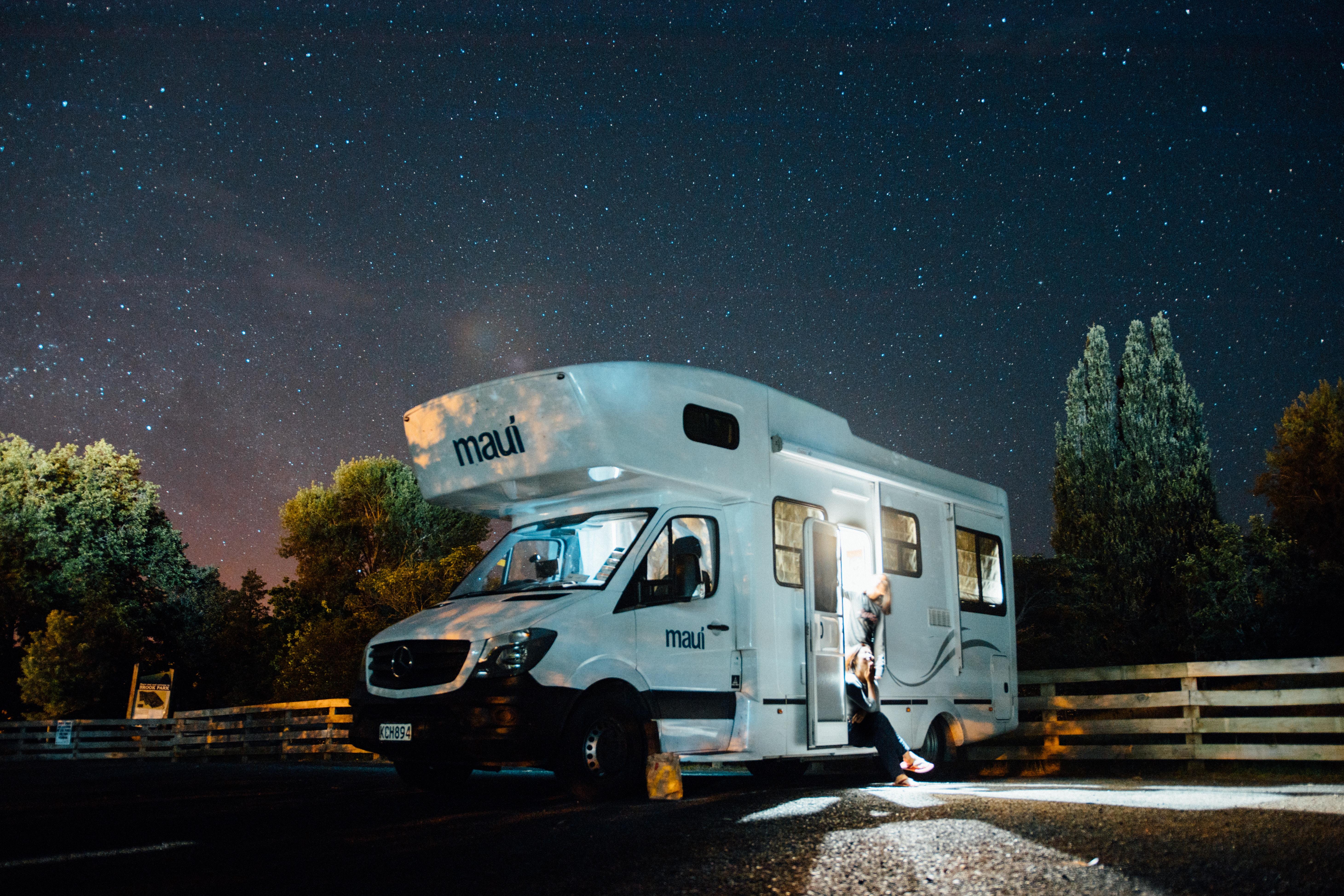 rv park on a starry night